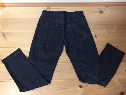 2017年のコムサイズムのメンズMサイズの福袋のジーンズ(裏側)