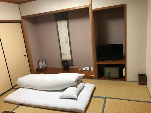飛騨古川スペランツァホテルの和室の布団