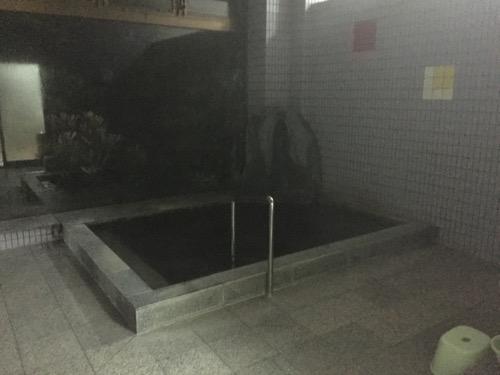 竹山荘の男湯の湯船