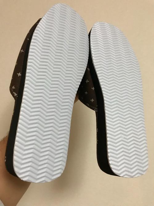 東京靴流通センター TS金町東急ストア店で購入したメンズ用のタタミサンダル(裏面)