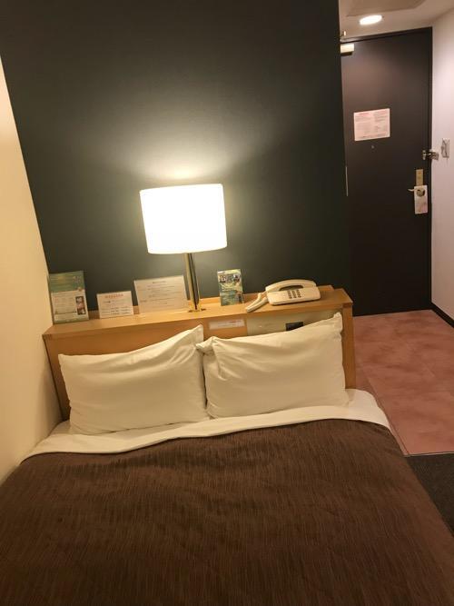 グレイスイン名古屋シングル禁煙ルームのベッド