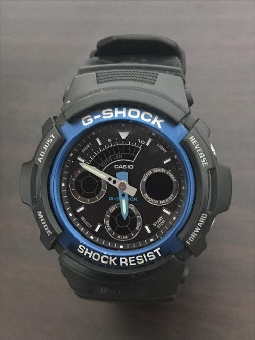 電池が切れて止まった腕時計(CASIO G-SHOCK AW-591-2AJF)