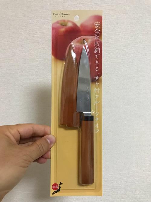 貝印株式会社の木ザヤ フルーツナイフ(DH-7173)(商品パッケージ開封前)