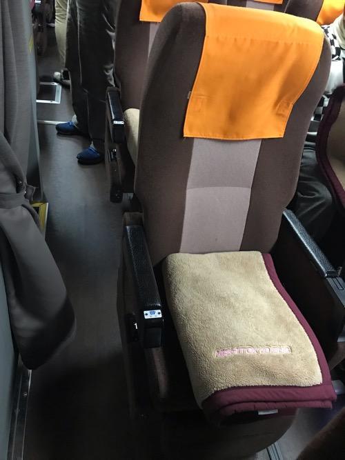 (オレンジライナー号)新宿・横浜⇒松山・八幡浜/89153便の座席(中央4B席)