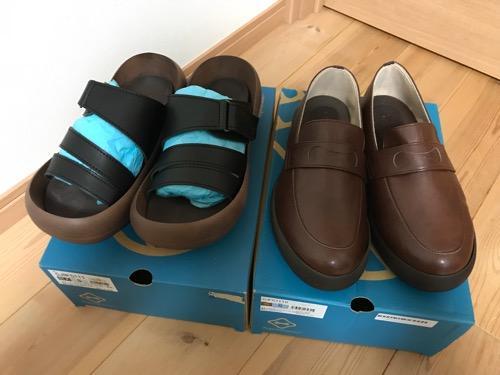 楽天ショップで購入したリゲッタカヌーの福袋の中身(サンダル:CJBF5111 BLK S、靴:CJFC7110 BRN S)