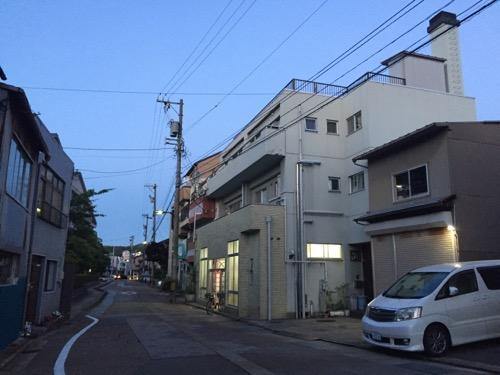 石川県金沢市の銭湯・瓢箪湯の周辺の様子