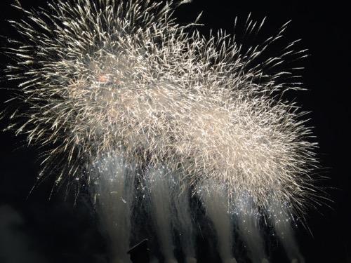 第50回葛飾納涼花火大会の花火師さんからの返答で打ち上げられた花火