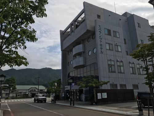 飛騨古川スペランツァホテルの建物外観(朝の様子)