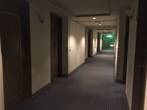 アイリス愛知(愛知県名古屋市中区丸の内2-5-10)の客室前の廊下