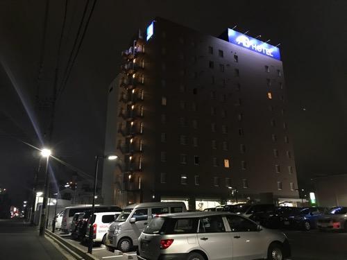 ABホテル豊橋の建物外観(夜の様子)