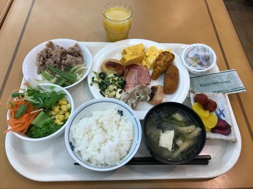 ホテルルートイン札幌北四条の朝食