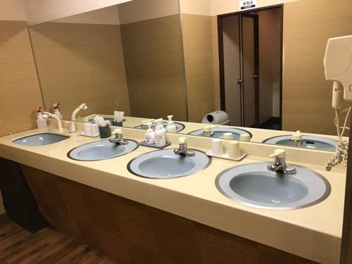 ホテルリバーサイド3階の洗面所