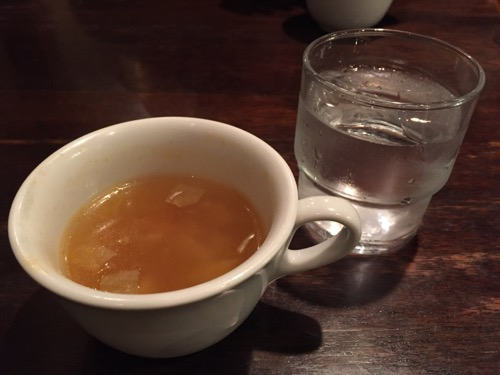 ジャックと豆の木のランチセットのスープ