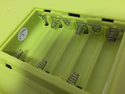 カシオ ミニキーボード S-46の乾電池挿入部