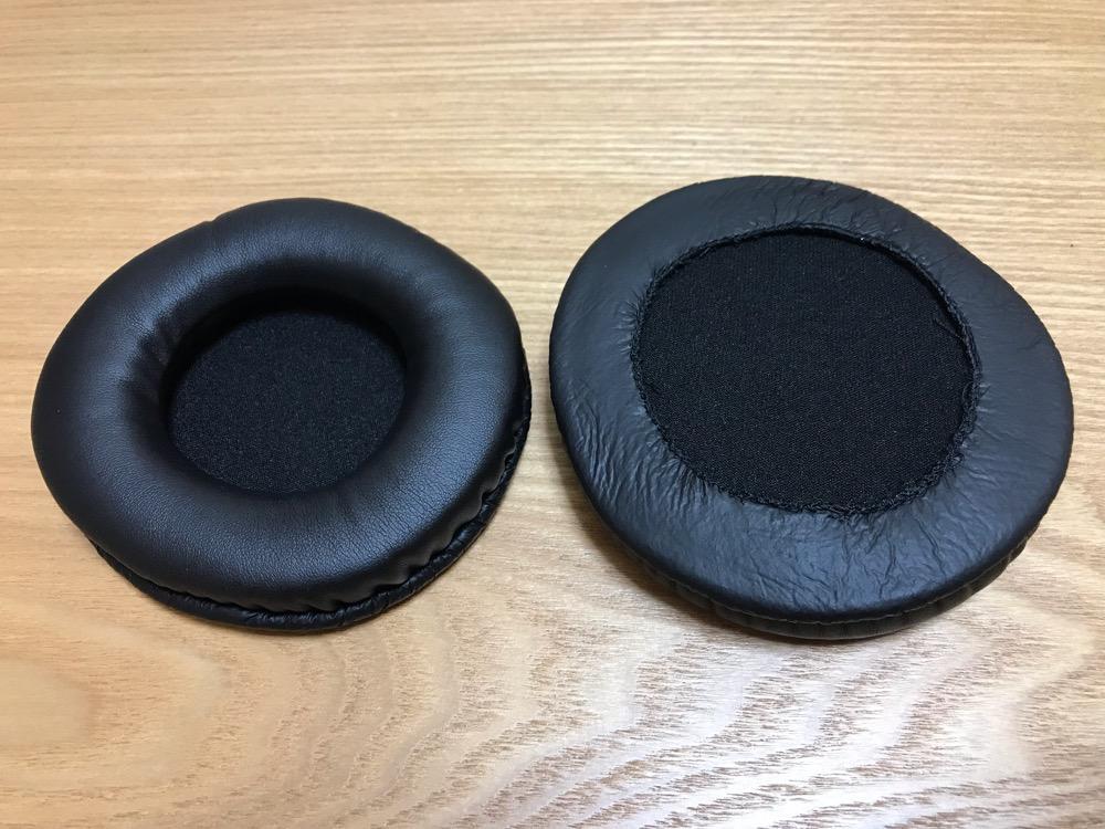 【ノーブランド品】交換用イヤーパッド イヤークッション MDR-DS7000 RF6000 MDR-MA300対応 黒