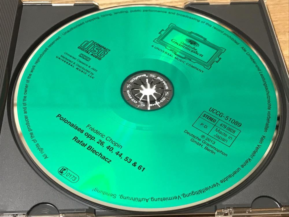 ブレハッチ ショパン ポロネーズ集のCDアルバム(CD本体の表面)