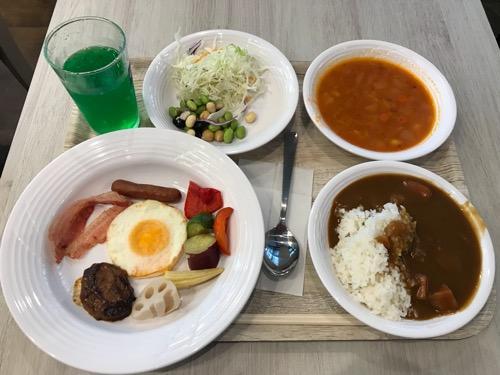 くれたけイン名古屋久屋大通の無料バイキング朝食