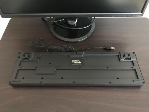 エレコム キーボード 有線 メンブレン式 USB接続 ブラック TK-FFCM01BKの裏面