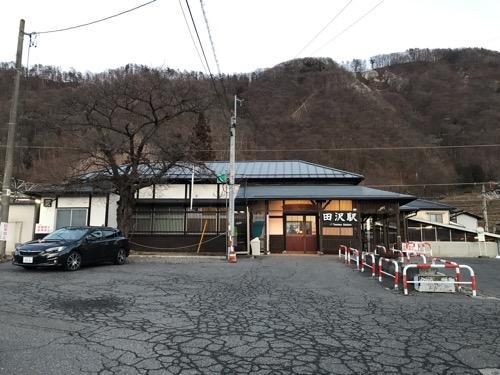 JR田沢駅の駅舎