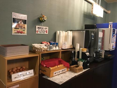 ホテルリバーサイドの朝食コーナー