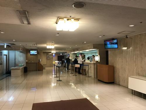 名古屋クラウンホテルのフロント付近