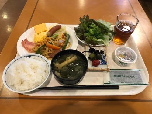 ホテルルートイン新潟県庁南の朝食