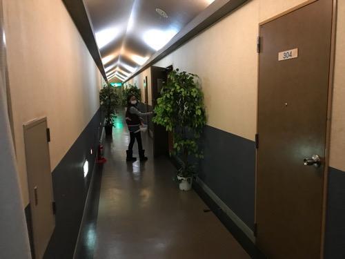星乃岡温泉 千湯館 家族風呂・宿泊用の部屋の前の通路
