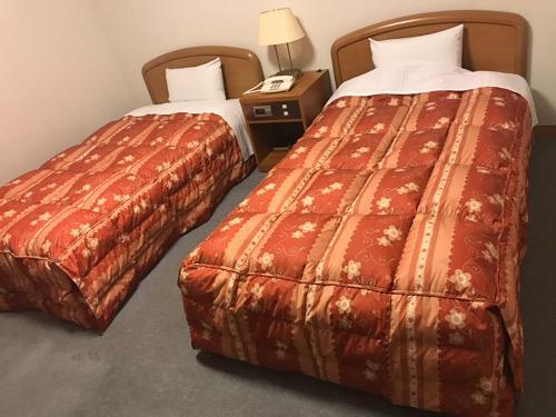 飛騨古川スペランツァホテルのシングルベッド2台