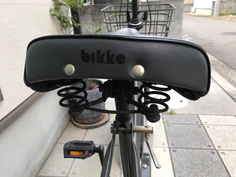 カバー装着前の自転車のサドル(側面)