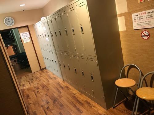 ホテルリバーサイド3階の鍵付きロッカー