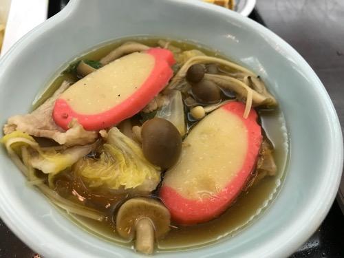 新潟第一ホテルの朝食のちゃんこ鍋