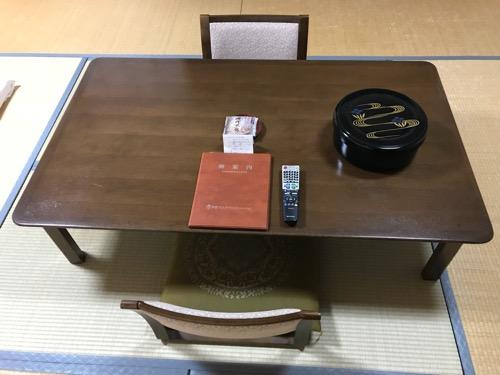 飛騨古川スペランツァホテルの和室のテーブル