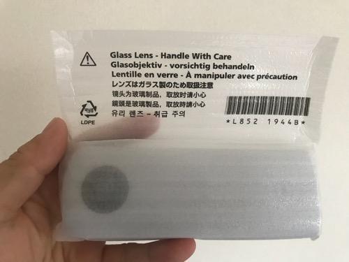 RICOH THETA SC ホワイト本体を梱包していた袋に記載されているカメラレンズに関する注意事項