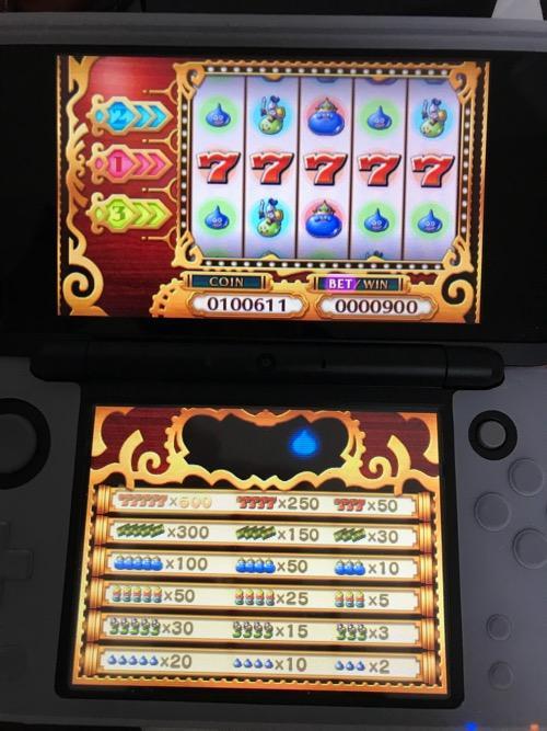ドラクエ11のカジノのスロットで77777を出した画面