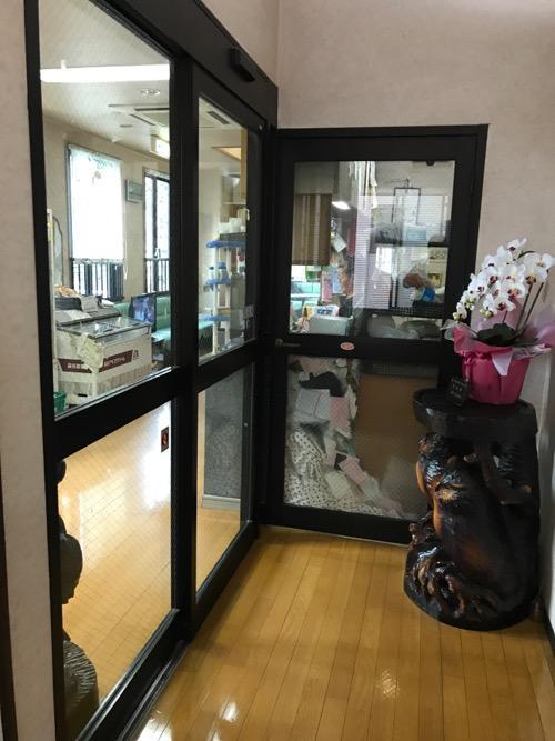 千葉県柏市の銭湯・湯パーク南柏の2階の入口(フロントと待合室がある付近)