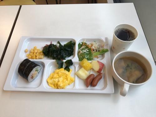 コンフォートホテル岡山のバイキング方式の無料朝食