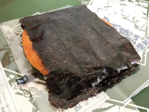 島村煎餅の名代手焼せんべい風味堅焼3枚目(海苔煎餅)