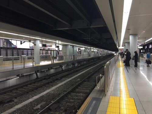 品川駅新幹線ホームー名古屋、新大阪方面