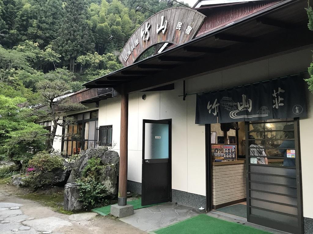 竹山荘の建物(看板、玄関)