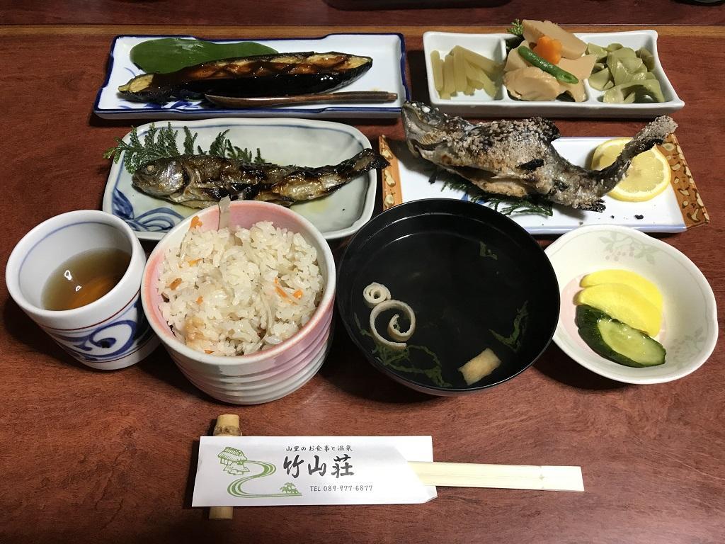 竹山荘の日替わり定食
