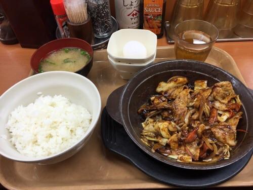 Sガスト金町店で注文した辛味噌定食