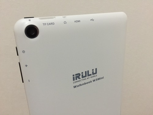 iRULU Walknbook W3Mini 8 JW008(Windows 10タブレット)の裏側