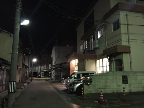 石川県金沢市の銭湯・大和温泉の周辺の様子
