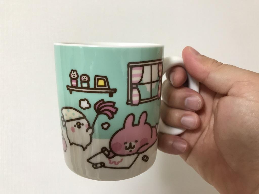 カナヘイくじ 2020 マグカップ「ピスケ&うさぎ」(マグカップを右手で持った時に見えるピスケとうさぎ)