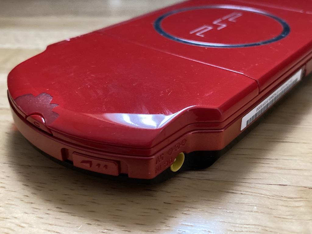互換バッテリーセット後にバッテリーカバーを装着したSONY PSP-3000 XBR