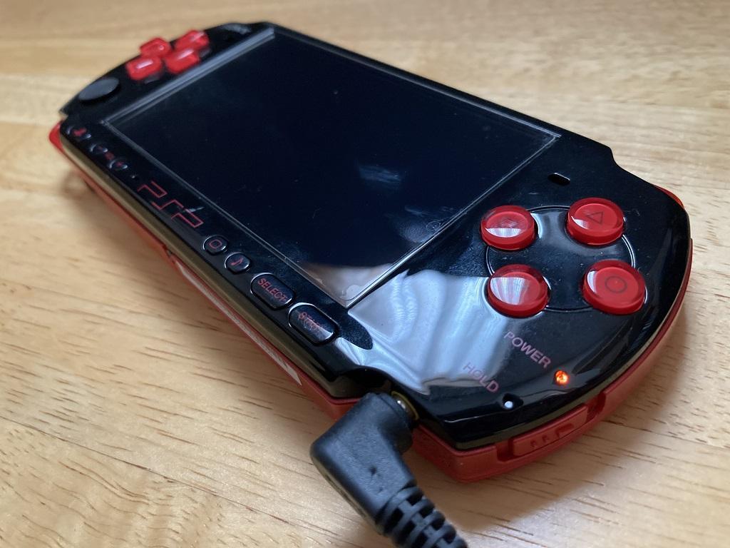 充電中のSONY PSP-3000 XBR