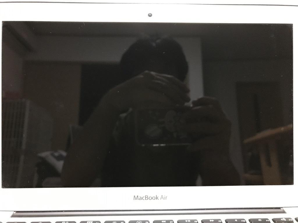 MacBook Airの綺麗な液晶画面